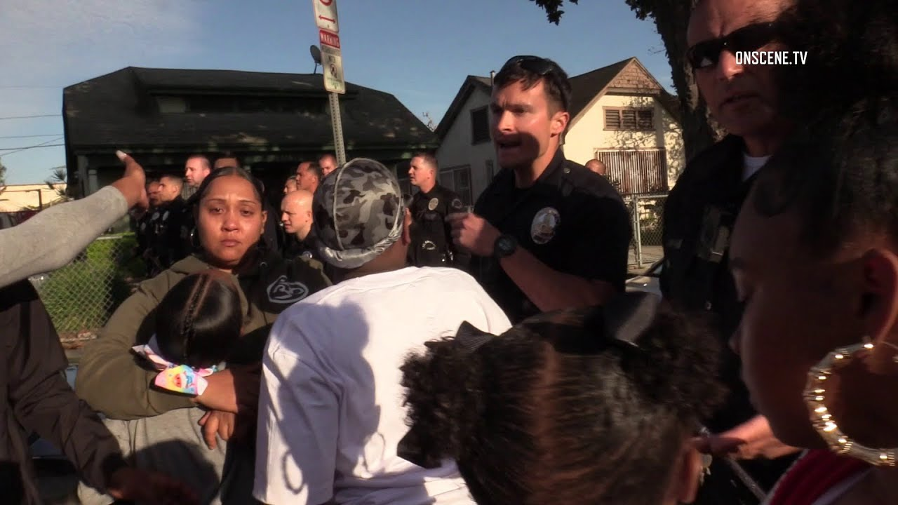 L.A. Block Party Broke Up Amid COVID-19 Pandemic [VIDEO]