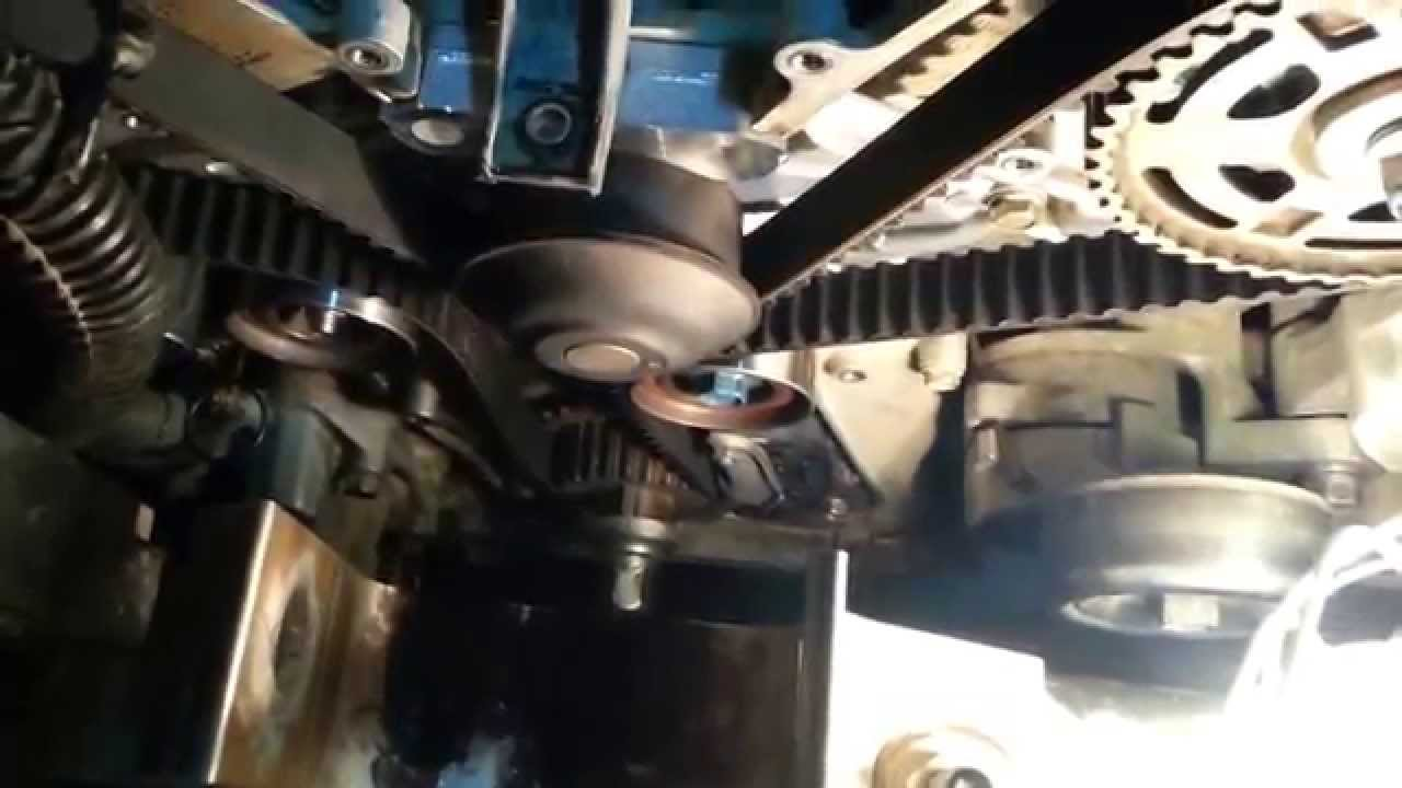 How to replace a timing belt and water pump 2006 Saturn Vue / Acura / Honda  Part 2 of 2 - YouTubeYouTube