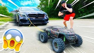 100MPH RC CAR TOWING MY CAR?! *WORKS!*