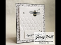Partial embossing folder technique using Stampin Up products with Jenny Hall