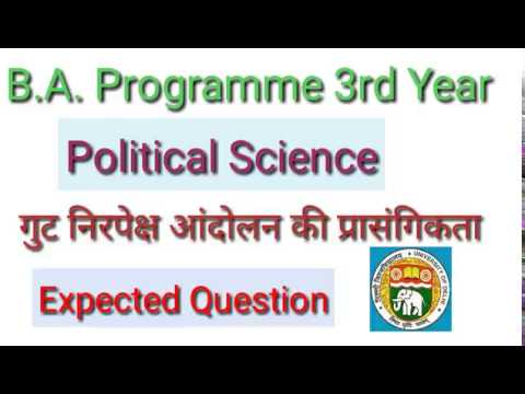 Political scienceB.A. programme 3rd yearimportant questionNon alignment