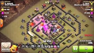 Clash of Clans TH9 Golaloon 3 Star War Attack