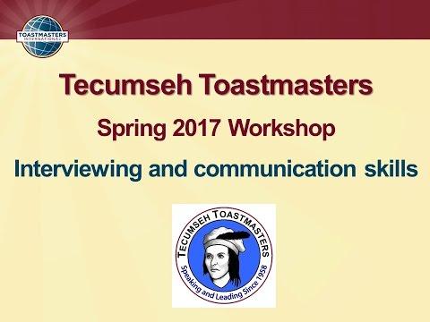 Tecumseh Toastmasters Spring 2017 Workshop