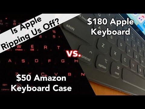 2018 iPad Pro - $180 Apple Keyboard Case vs $50 Amazon Keyboard Case
