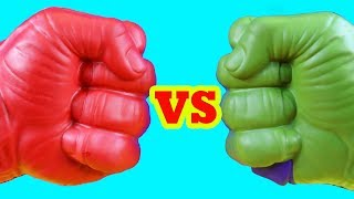 Hulk Family Vs Red Hulk Family ! Mega Battle ! Superhero Toys