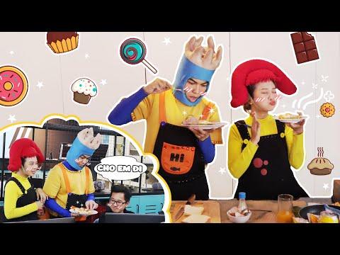 Góp Đồ Ăn Từ 50 Người Làm Bữa Sáng Đầy Dinh Dưỡng | Em Vàng Vào Bếp | Hi Pencil Studio