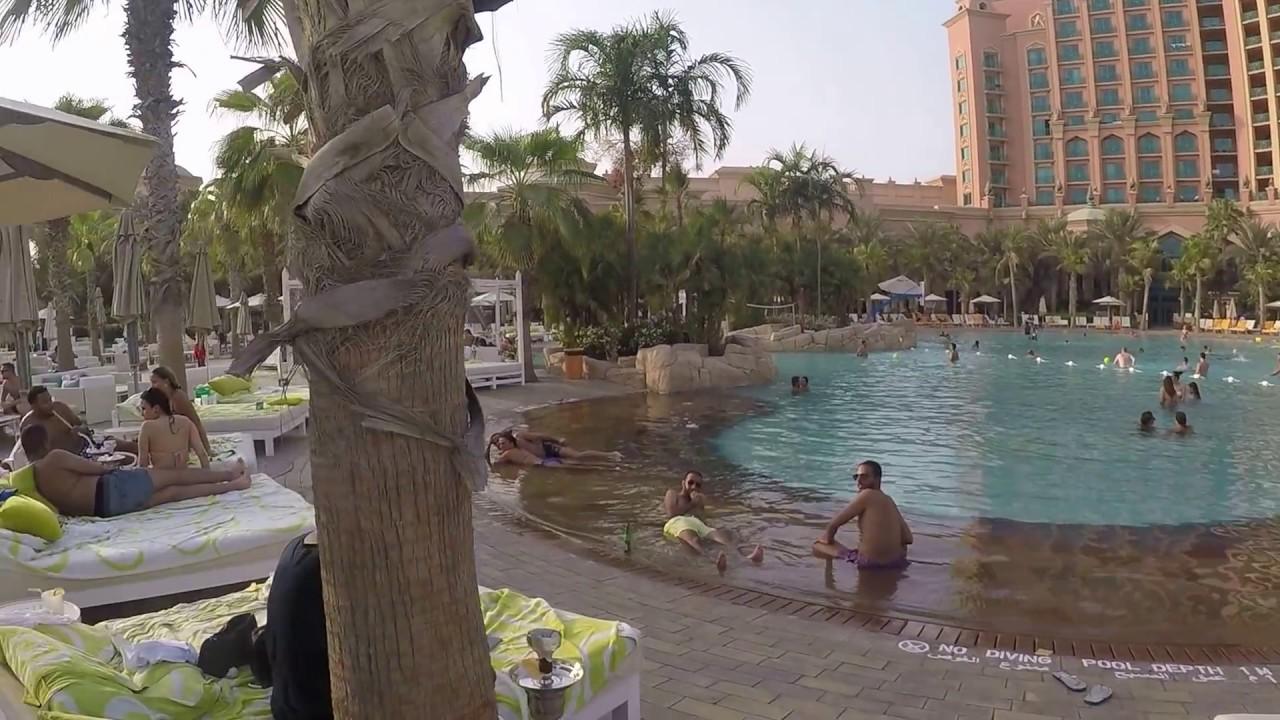 Atlantis The Palm Hotel Dubai Swimming Pool Nasimi Beach Gopr0606 Full Hd Youtube