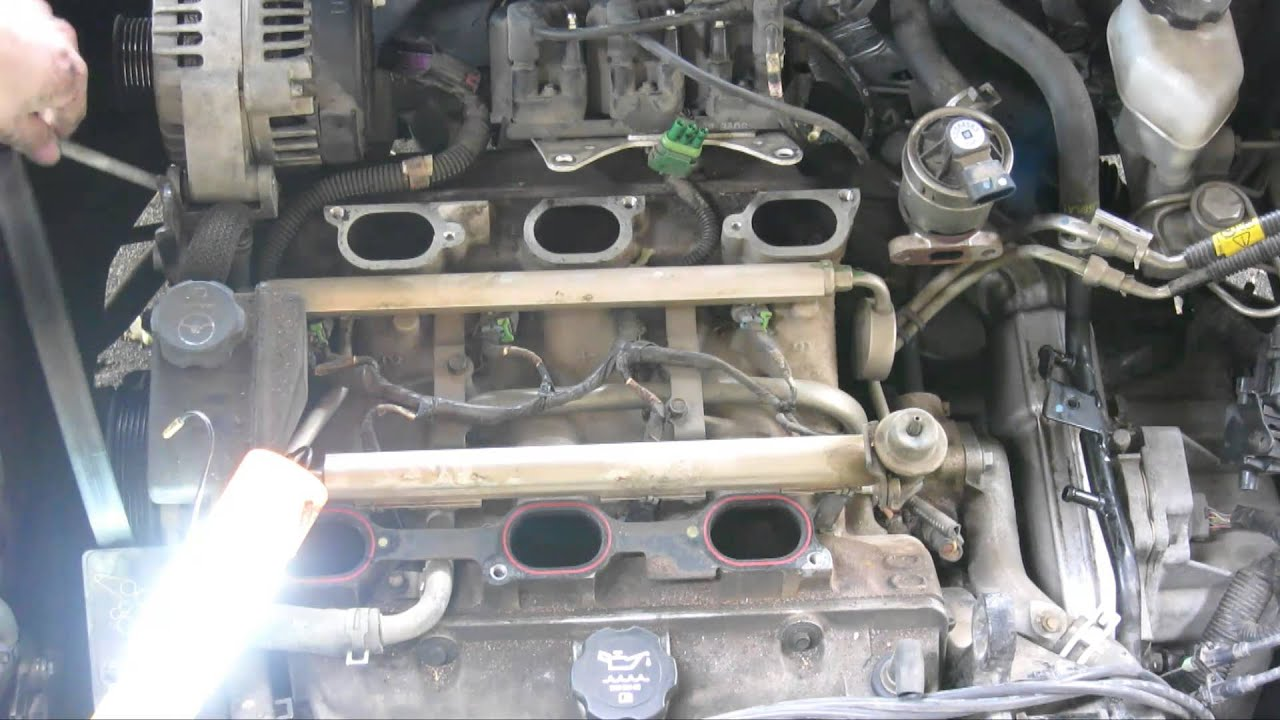 brown sludge inside radiator replacing intake manifold gasket gm rh youtube com