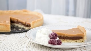 Nougat and white chocolate pie