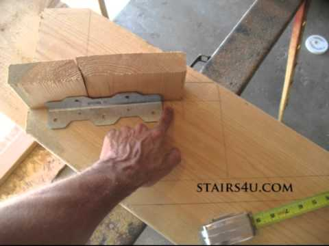 Move Tread Brackets Forward Stair Stringer Layout Tip