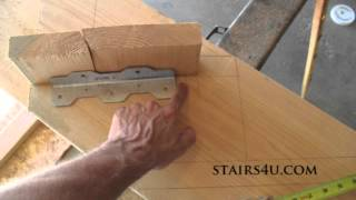 Move Tread Brackets Forward - Stair Stringer Layout Tip