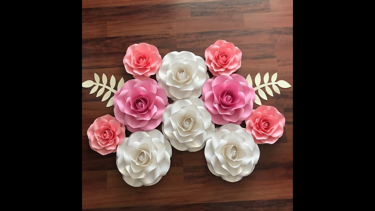 How To Size The Mini Rose Paper Flower Template In Cricut Design Space