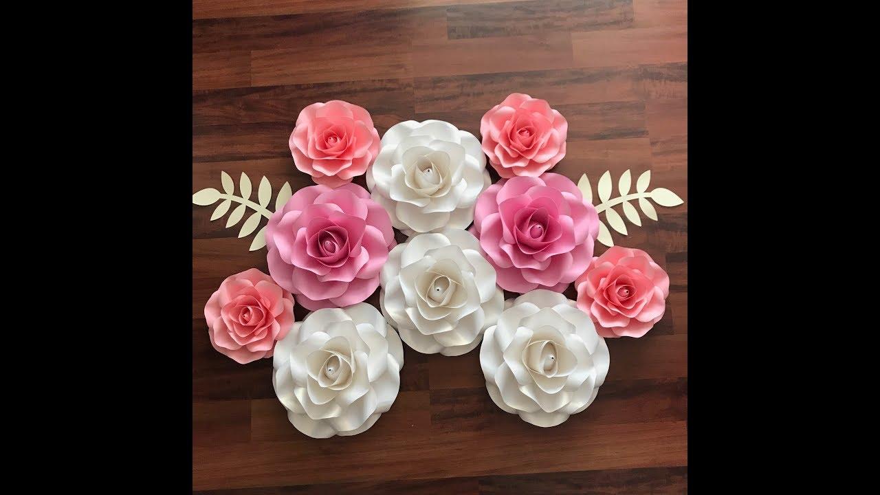 paper flower cricut template