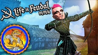 Scrumply Plumpersbill, Slingshot Champion | #4 | Life is Feudal MMO Sandbox PC Gameplay MULTIPLAYER