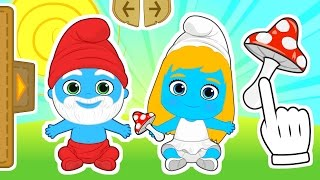 BABIES as SMURFS | Gameplay with Smurfette and Papa Smurf costume | Cartoons for kids