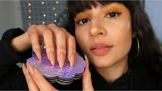 ASMR Tapping For Sleep/Relaxation ♡ (Long Nails & Whispering)