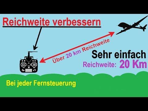 Reichweite von Fernsteuerungen verbessern. 10 Km und mehr...