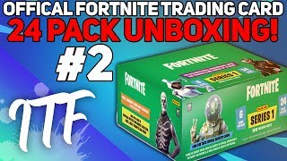Unboxing 24 Packs de Fortnite Series 1 Trading Cards #2! (Fortnite Battle Royale)