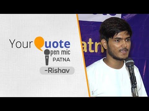 'Kuch Yun Hua' by Rishav | Hindi Poetry | YourQuote - Patna (Open Mic 1)