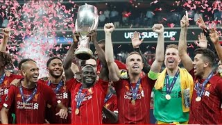 UEFA Super Cup 2019   Champions Liverpool FC   Trophy & Award Ceremony   Captured from Gallery