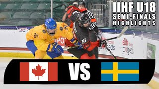 U18 IIHF Semi Final Game Highlights | Team Canada vs Sweden | May 5, 2021