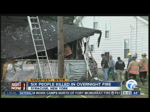 Six dead in Syracuse house fire
