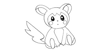 How to Draw Emolga Pokemon Step by Step