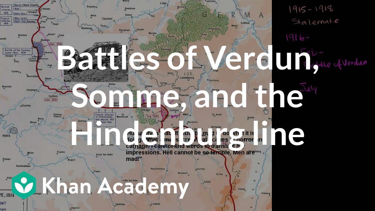 Battle Of Verdun In The First World War 1916 Stock Image