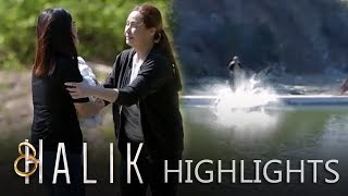 Helen pushes Jacky and Baby CJ in the river | Halik (With Eng Subs)