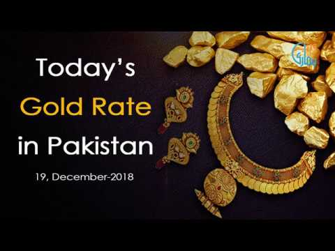 Gold Rate Today in Pakistan on 19-December-2018