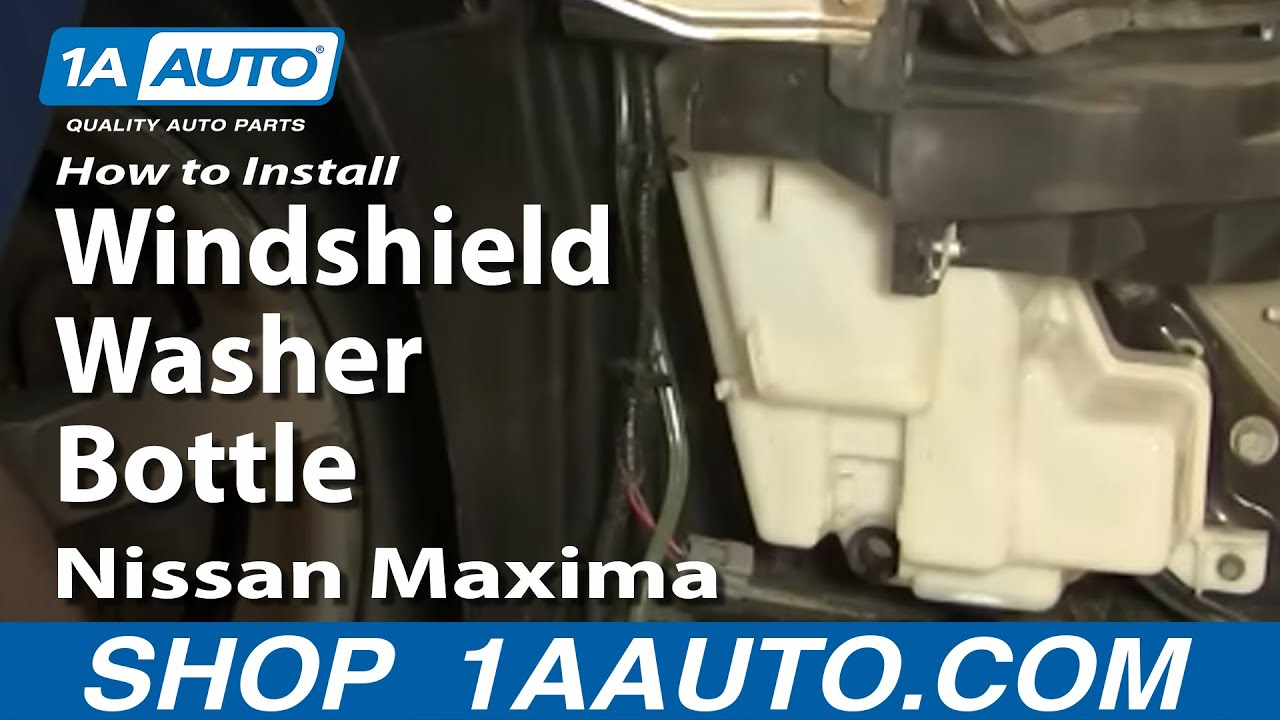 How To Install Replace Windshield Washer Bottle Reservoir ...