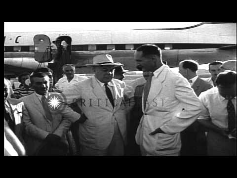 British negotiator representing Anglo-Iranian Oil Company arrives in Abadan Iran,...HD Stock Footage