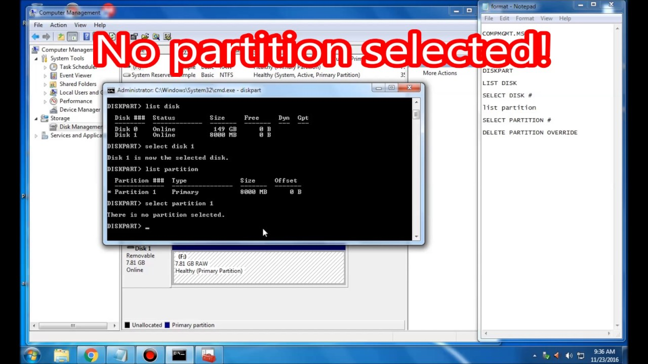 how to create partition in cmd