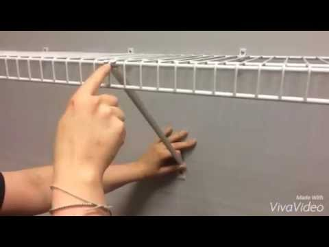 Wonderful How To Correctly Install ClosetMaid Shelf Support Brackets   YouTube
