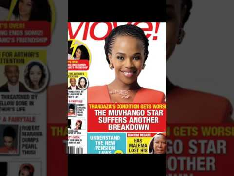 Sindi Dlathu on a magazine cover