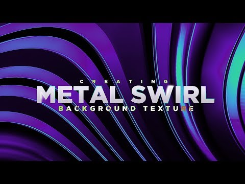 Abstract Metal Twirl Background (Photoshop)