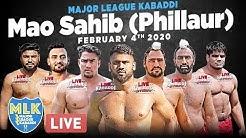 LIVE - Mao Sahib (Phillaur) Major League Kabaddi Cup 2020