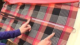 Обработка шлицы в платье