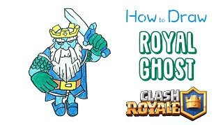 How to Draw the Royal Ghost from Clash Royale