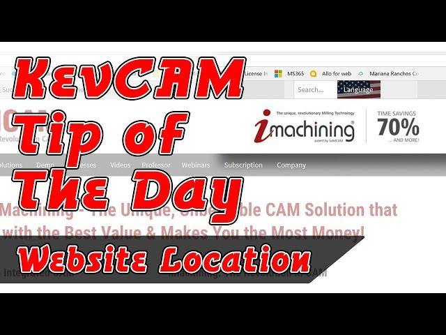 Tip of the Day - Website Location