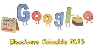 Elecciones Colombia 2015 - Elecciones regionales de Colombia 📆 25 de octubre de 2015 - Google Doodle