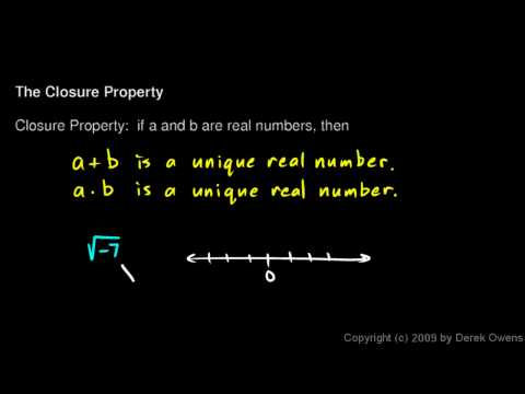Algebra 1  2.01d - The Closure Property