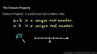 Algebra 1  2.01d - The Closure Property