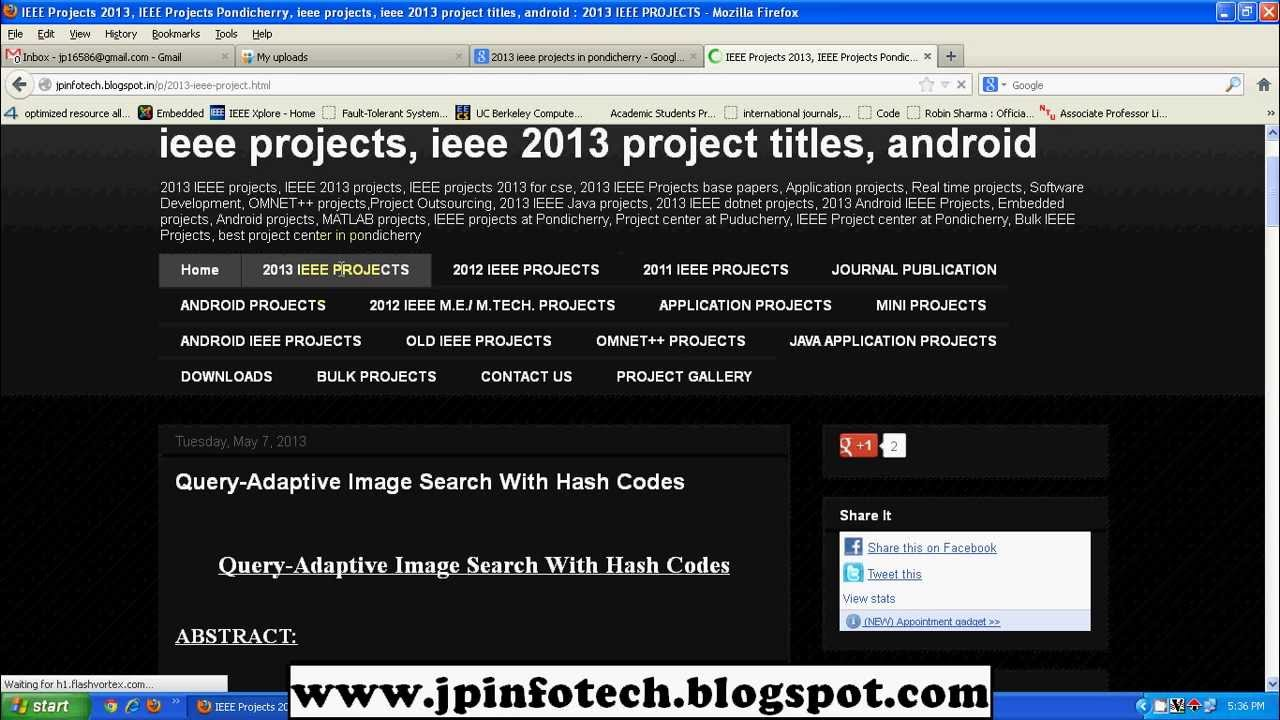 Final Year IEEE Project Titles for CSE, IT, ECE, EEE, MCA,  M E ,M Tech ,B E ,B Tech ,M Phil , M Sc