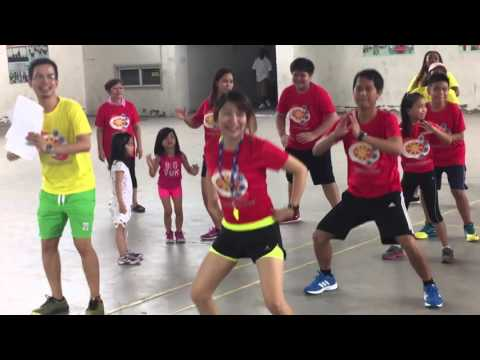 Filipino Dancing Zumba in Chongqing China