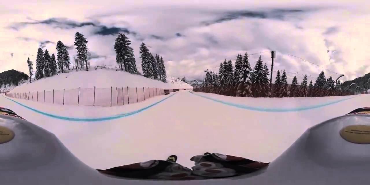 Спуск с горы с камерой 360°
