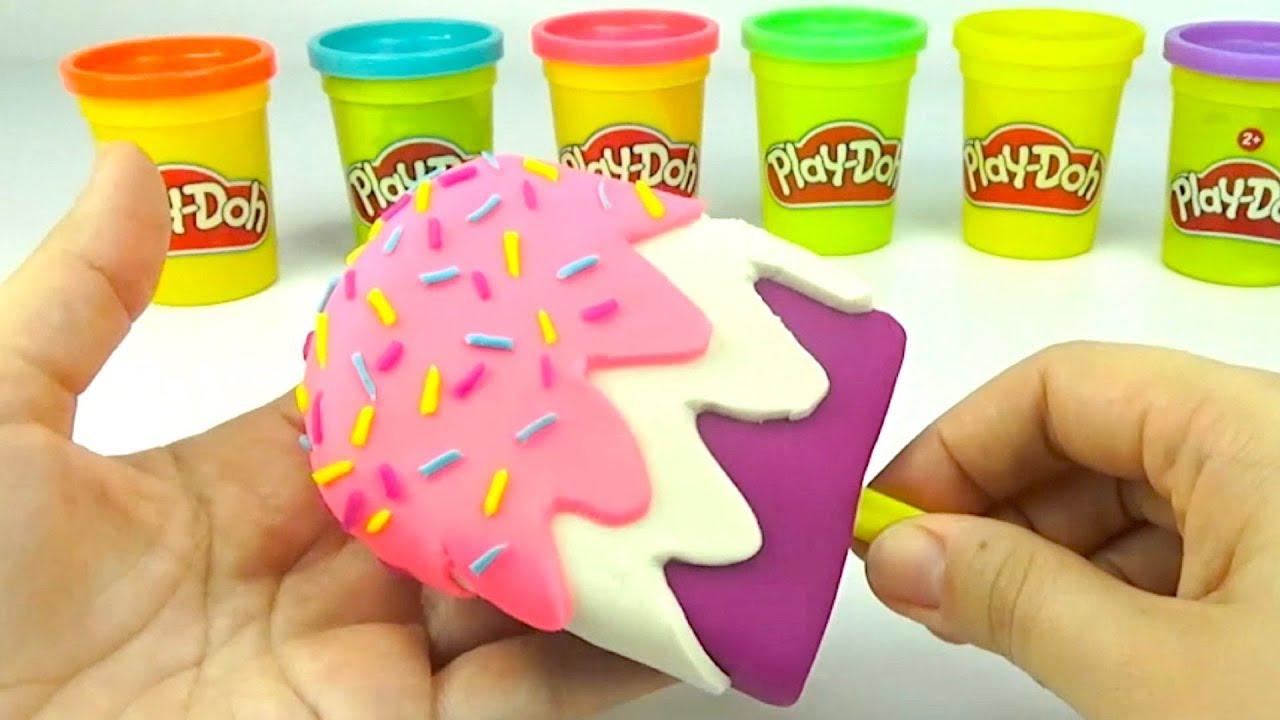 Пластилин для детей, учимся лепить мороженое и животных