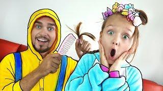 Papá se quedó solo con Nastya | Video para niños