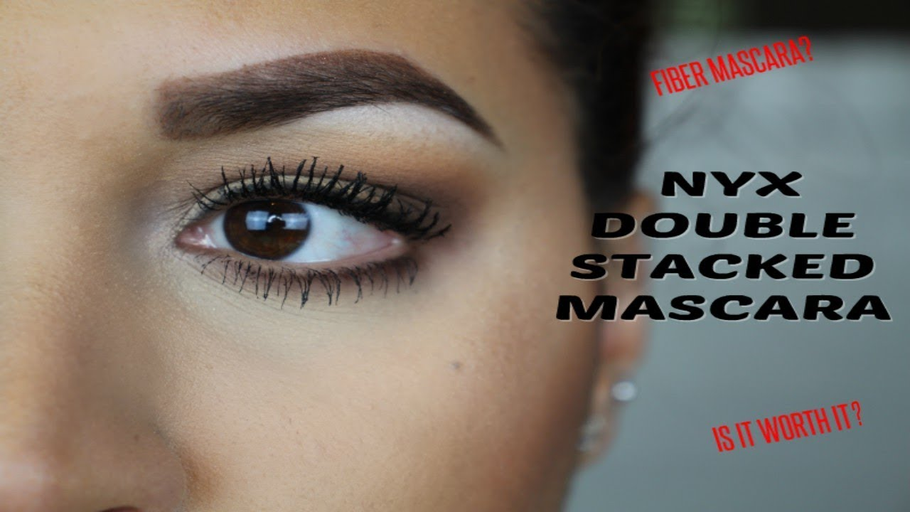 43a8753d050 NYX Double Stacked Mascara REVIEW & WEAR TEST   GLOSSANDTALK - YouTube