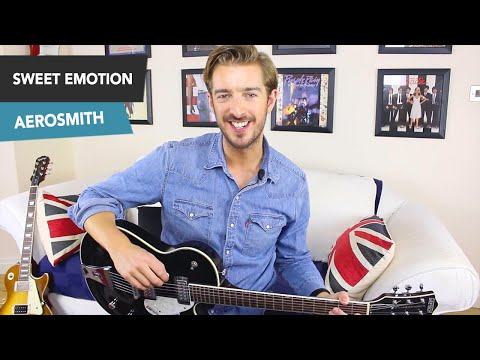 Sweet Emotion Guitar Tutorial - Aerosmith - Rock Guitar Lesson All Riffs
